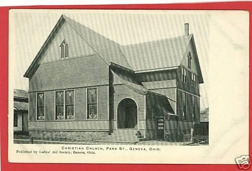 GENEVA OHIO CHRISTIAN CHURCH PARK STREET  POSTCARD