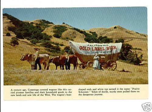 CALIFORNIA BREWING COMPANY GOLD LABEL BEER WAGON PSTCRD