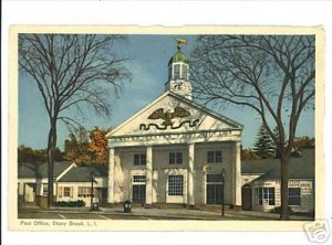STONY BROOK LONG ISLAND NEW YORK  POST OFFICE POSTCARD