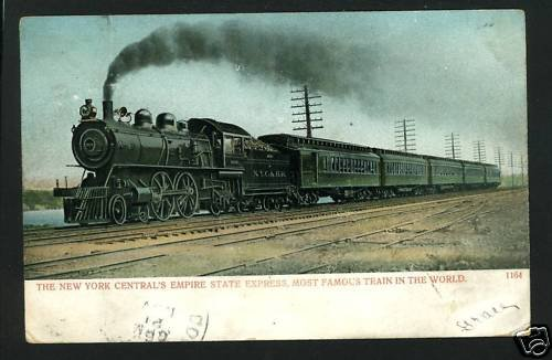 NYC NEW YORK CENTRAL EMPIRE STATE EXPRESS 1906 POSTCARD