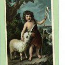 ST JOHN AND THE LAMB RELIGIOUS POSTCARD 1908 BIEN