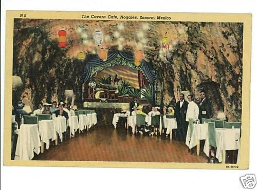 NOGALES MEXICO SONORA CAVERN CAFE INTERIOR 1946 ARIZONA