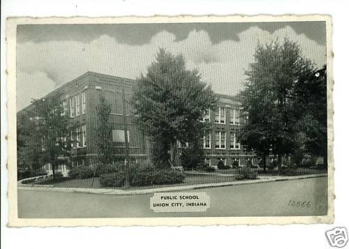 UNION CITY IN INDIANA PUBLIC SCHOOL TIBBETS POSTCARD