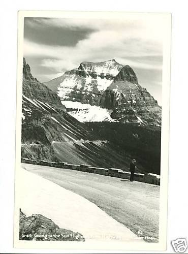 RPPC GOING TO THE SUN HIGHWAY MONTANA GLACIER STUDIO