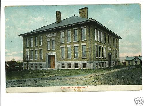 DENNISON OHIO OH  NEW SCHOOL 1913 VINTAGE POSTCARD