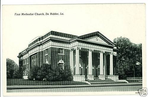 DE RIDDER LA LOUISIANA FIRST METHODIST CHURCH POSTCARD