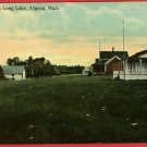 ALPENA MICHIGAN MI COTTAGES AT LONG LAKE  POSTCARD