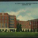 ANDERSON INDIANA IN ST JOHN'S HICKEY HOSPITAL  POSTCARD