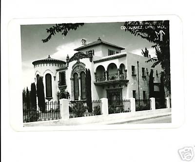 RPPC Casa Bermudes Juarez Chih Mexico RP POSTCARD