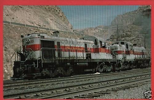 UTAH RAILWAY COMPANY LOCOMOTIVES 301 & 304 POSTCARD
