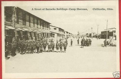 CHILLICOTHE OHIO OH BARRACKS BLDG CAMP SHERMAN POSTCARD