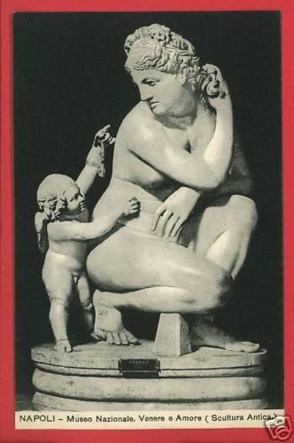 NAPOLI ITALY MUSEO NAZIONALE VENERE e AMORE POSTCARD