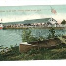 CEDAR POINT OHIO OH BOAT LANDING 1907  POSTCARD