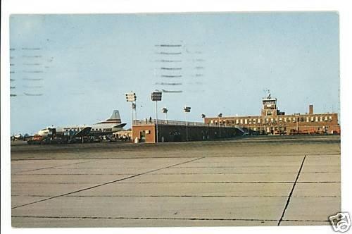 CINCINNATI AIRPORT OHIO OH KY AIRPLANES POSTCARD 1959