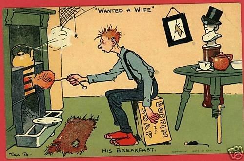TOM BROWNE WANTED A WIFE SOAP BOX FIRE COMIC POSTCARD