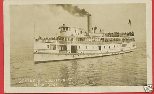 RPPC STATUE OF LIBERTY BOAT HOOK MOUNTAIN SHIP FERRY