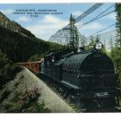 CASCADE MTNS. WA WASHINGTON TRAIN RAILROAD POSTCARD