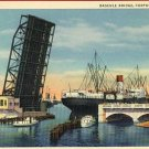 CORPUS CHRISTI TEXAS BASCULE BRIDGE SHIP POSTCARD