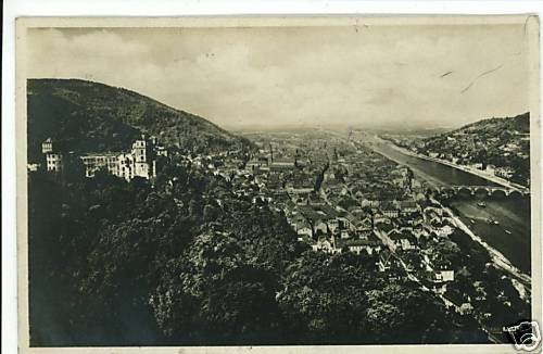 RPPC HEIDELBERG GERMANY 1930 SCHLOK UND STADT  POSTCARD