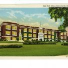 "EDWARDSVILLE IL ILLINOIS ""NEW""  HIGH SCHOOL  POSTCARD"