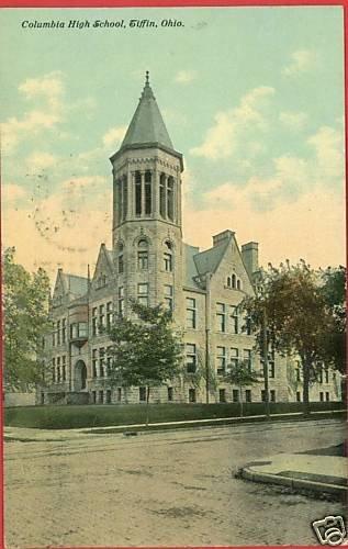 TIFFIN OHIO OH COLUMBIAN HIGH SCHOOL 1912 POSTCARD