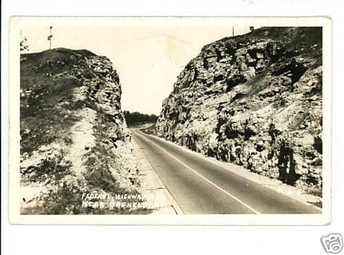 BAGNELL DAM LAKE OF THE OZARKS MISSOURI RPPC 1936 HY 54