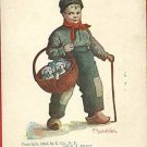 B WALL BUY A PUP? BOY PUPPIES BASKET 1905 A/S  POSTCARD