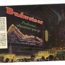 BUDWEISER BEER GRAND CANYON  ST LOUIS MO 1949  POSTCARD