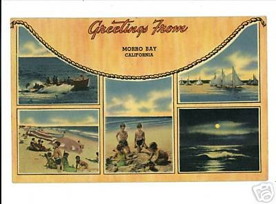 MORRO BAY CALIFORNIA 1941 VINTAGE POSTCARD
