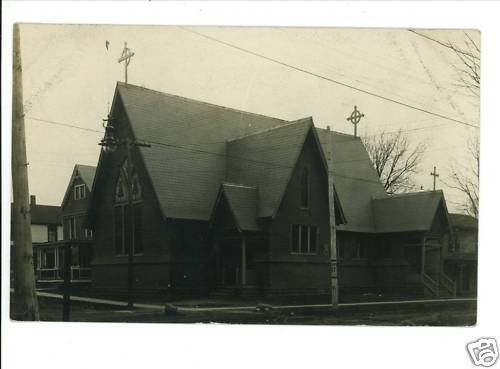 RPPC GENEVA OHIO OH EPISCOPAL CHURCH  1909 WRIGHT