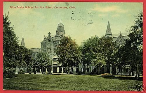 COLUMBUS OHIO OH STATE SCHOOL FOR BLIND 1911  POSTCARD
