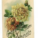 ORLANDO FL FLORIDA GREETINGS FROM GLITTER ROSE POSTCARD
