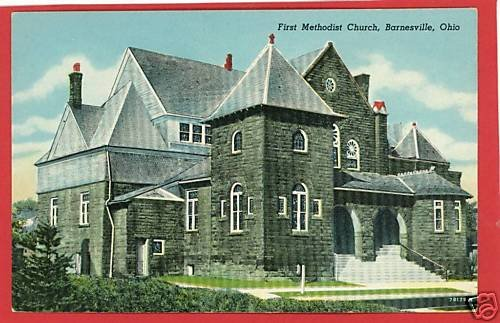 BARNESVILLE OHIO FIRST METHODIST CHURCH POSTCARD
