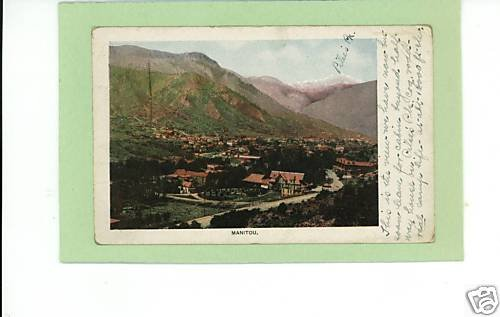 MANITOU SPRINGS COLORADO 1908 POSTCARD