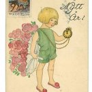 AINA STENBERG GOTT NYTT AR BOY WATCH 1924 POSTCARD