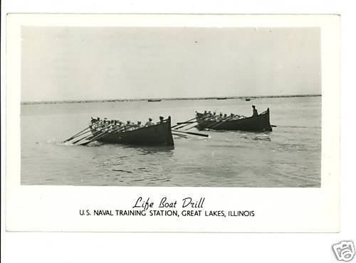RPPC GREAT LAKES ILLINOIS IL  LIFEBOAT NAVAL STATION