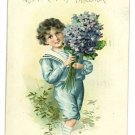 TOKEN OF AFFECTION BOY BLUE WITH FLOWERS POSTCARD