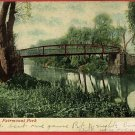 FAIRMONT PARK BRIDGE PHILADELPHIA PA 1909 POSTCARD