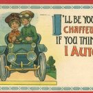 AUTO CAR CHAFFEUR WRENCH GOGGLES SB 1913  POSTCARD