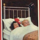 BOY GIRL IN BED HOME SWEET HOME CLOCK K MATHEW POSTCARD