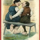 GERMAN COUPLE ON BENCH RISQUE NICHT  HUBER A/S POSTCARD