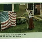 ILLUSTRATED SONG PATRIOTIC STARS STRIPES FLAG  POSTCARD