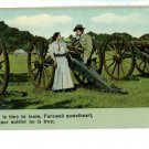 ILLUSTRATED SONG PATRIOTIC CANNON SOLDIER  POSTCARD