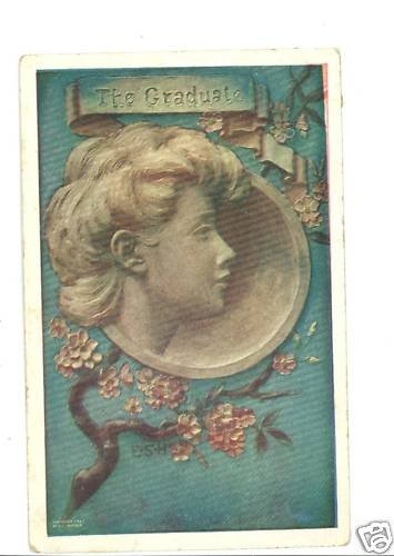 THE GRADUATE ESH 1907 MATHER ARTIST SIGNED  POSTCARD