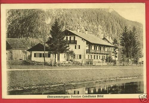 OBERAMMERGAU PENSION LANDHAUS BOLD GERMANY POSTCARD