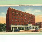SARANAC LAKE NEW YORK HOTEL OLD CARS VINTAGE POSTCARD