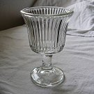 Glass Pedestal Candle Holder Excellent Condition