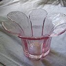 Pink Glass Candle Holder Beautiful Design
