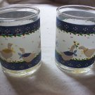 Ducks - Juice Glasses - Lot of 2 - Vintage