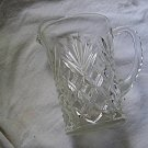 Vintage Clear Glass Pitcher Pineapple Pattern EAPC Anchor Hocking